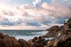 ηλιοβασίλεμα Ταϊλάνδη νη&sig Στοκ εικόνα με δικαίωμα ελεύθερης χρήσης