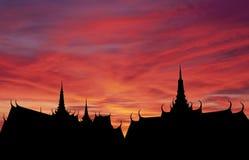 ηλιοβασίλεμα Ταϊλανδός &si Στοκ εικόνα με δικαίωμα ελεύθερης χρήσης