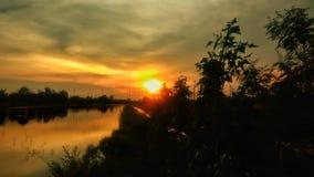 Ηλιοβασίλεμα την Κυριακή Στοκ εικόνες με δικαίωμα ελεύθερης χρήσης