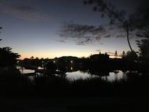 Ηλιοβασίλεμα της Αυστραλίας Στοκ Εικόνα