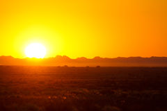 ηλιοβασίλεμα της Αφρική&s Στοκ Φωτογραφία