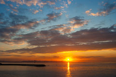ηλιοβασίλεμα της Βηρυτ&ta Στοκ φωτογραφία με δικαίωμα ελεύθερης χρήσης