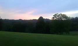 Ηλιοβασίλεμα της δυτικής Βιρτζίνια Στοκ φωτογραφίες με δικαίωμα ελεύθερης χρήσης