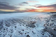 Ηλιοβασίλεμα της Ισλανδίας Στοκ εικόνα με δικαίωμα ελεύθερης χρήσης