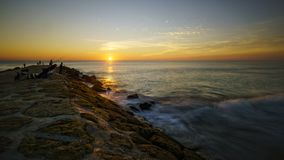 Ηλιοβασίλεμα της Ισπανίας αλλαγής βάρδιας στοκ εικόνες με δικαίωμα ελεύθερης χρήσης