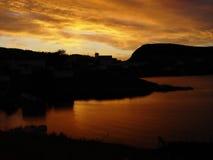 ηλιοβασίλεμα της νέας γη στοκ εικόνα