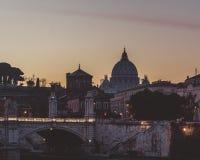 ηλιοβασίλεμα της Ρώμης στοκ φωτογραφίες