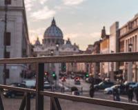 ηλιοβασίλεμα της Ρώμης στοκ εικόνες με δικαίωμα ελεύθερης χρήσης