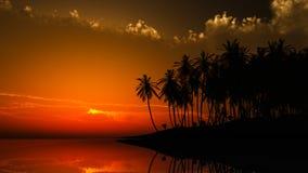 Ηλιοβασίλεμα της Χαβάης απεικόνιση αποθεμάτων