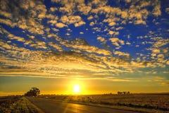 Ηλιοβασίλεμα τοπίων στην Αργεντινή στοκ φωτογραφίες με δικαίωμα ελεύθερης χρήσης