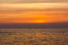 Ηλιοβασίλεμα τοπίων στον ωκεανό Στοκ εικόνα με δικαίωμα ελεύθερης χρήσης