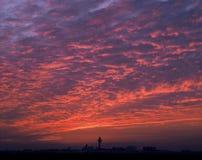 ηλιοβασίλεμα του Άμστε&r Στοκ Φωτογραφία