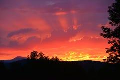 Ηλιοβασίλεμα του Βερμόντ Στοκ εικόνες με δικαίωμα ελεύθερης χρήσης