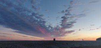 Ηλιοβασίλεμα του Μπράιτον στοκ φωτογραφία με δικαίωμα ελεύθερης χρήσης