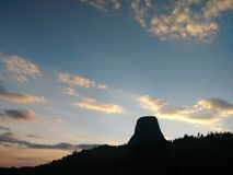 Ηλιοβασίλεμα του Ουαϊόμινγκ στοκ φωτογραφία