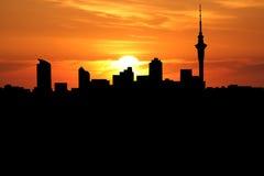 ηλιοβασίλεμα του Ώκλαν& ελεύθερη απεικόνιση δικαιώματος