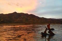Ηλιοβασίλεμα του Abel Tasman Στοκ εικόνα με δικαίωμα ελεύθερης χρήσης