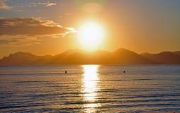 ηλιοβασίλεμα των Καννών Στοκ Εικόνες