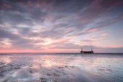 Ηλιοβασίλεμα υπολοίπων Ribble Στοκ εικόνες με δικαίωμα ελεύθερης χρήσης