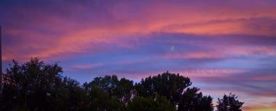ηλιοβασίλεμα φεγγαριών Στοκ φωτογραφία με δικαίωμα ελεύθερης χρήσης