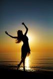ηλιοβασίλεμα χορού Στοκ Φωτογραφίες