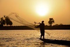 ηλιοβασίλεμα ψαράδων Στοκ εικόνα με δικαίωμα ελεύθερης χρήσης