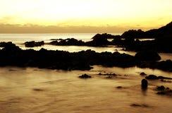 ηλιοβασίλεμα όρμων στοκ εικόνες