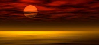 ηλιοβασίλεμα 2 ανασκόπησης Στοκ Εικόνα