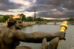 ηλιοβασίλεμα 2 Παρίσι Στοκ φωτογραφίες με δικαίωμα ελεύθερης χρήσης