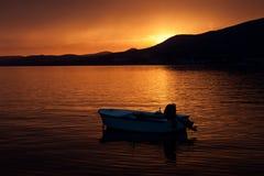 Ηλιοβασίλεμα. Στοκ Εικόνες