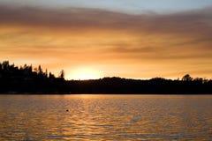 ηλιοβασίλεμα 3 λιμνών Στοκ Φωτογραφία