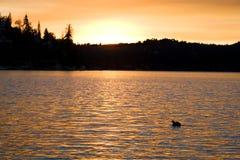 ηλιοβασίλεμα 4 λιμνών Στοκ Εικόνες