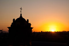 Ηλιοβασίλεμα Arequipa Στοκ εικόνα με δικαίωμα ελεύθερης χρήσης