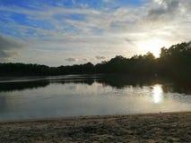 Ηλιοβασίλεμα Bawsey στοκ φωτογραφία
