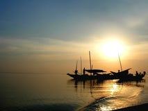 ηλιοβασίλεμα chilka Στοκ φωτογραφίες με δικαίωμα ελεύθερης χρήσης