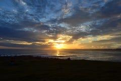 Ηλιοβασίλεμα Cloudly σε Cabo Polonio Στοκ Φωτογραφία