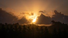 Ηλιοβασίλεμα Contre jour στοκ φωτογραφίες