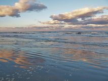 Ηλιοβασίλεμα Daytona Beach στοκ φωτογραφία με δικαίωμα ελεύθερης χρήσης