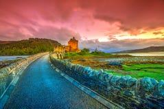 Ηλιοβασίλεμα Donan Eilean Στοκ Εικόνες