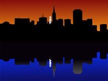 ηλιοβασίλεμα Francisco SAN διανυσματική απεικόνιση