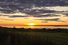 Ηλιοβασίλεμα Galway στον κόλπο, Ιρλανδία Στοκ εικόνες με δικαίωμα ελεύθερης χρήσης