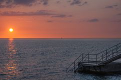 Ηλιοβασίλεμα Helsingborg στοκ εικόνα με δικαίωμα ελεύθερης χρήσης