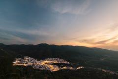 Ηλιοβασίλεμα Idris Moulay, Μαρόκο Στοκ εικόνα με δικαίωμα ελεύθερης χρήσης