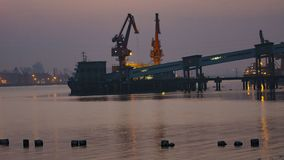 Ηλιοβασίλεμα Jiaojiang Στοκ Εικόνες