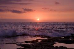 ηλιοβασίλεμα kona Στοκ εικόνα με δικαίωμα ελεύθερης χρήσης