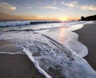 ηλιοβασίλεμα malibu στοκ εικόνες