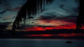 ηλιοβασίλεμα Maui απόθεμα βίντεο