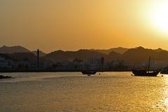 Ηλιοβασίλεμα Muscat Στοκ φωτογραφίες με δικαίωμα ελεύθερης χρήσης