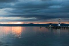 ηλιοβασίλεμα neusiedlersee Στοκ Φωτογραφία
