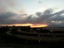 Ηλιοβασίλεμα Oahu ΧΑΒΑΗ ΗΠΑ στοκ εικόνες με δικαίωμα ελεύθερης χρήσης